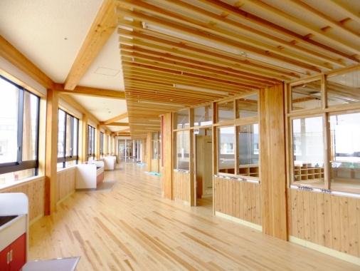 守谷市立守谷小学校 大規模木構造建築 サミットhr工法 Sj工法 Hrs工法