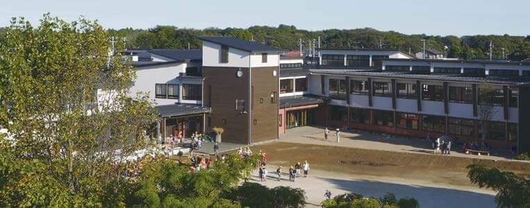 木造建築の施工事例:守谷市立 守谷小学校 3枚目