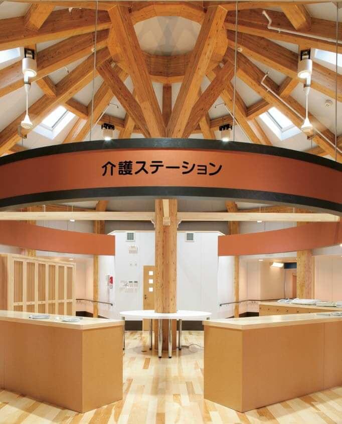 木造建築の施工事例:救護施設 親愛の家 管理棟・浴室棟・介護職員室棟 2枚目