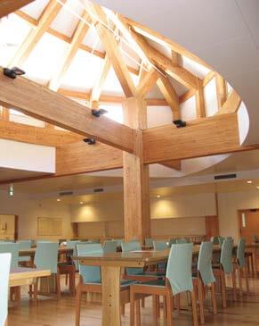 木造建築の施工事例:救護施設 親愛の家 管理棟・浴室棟・介護職員室棟 3枚目