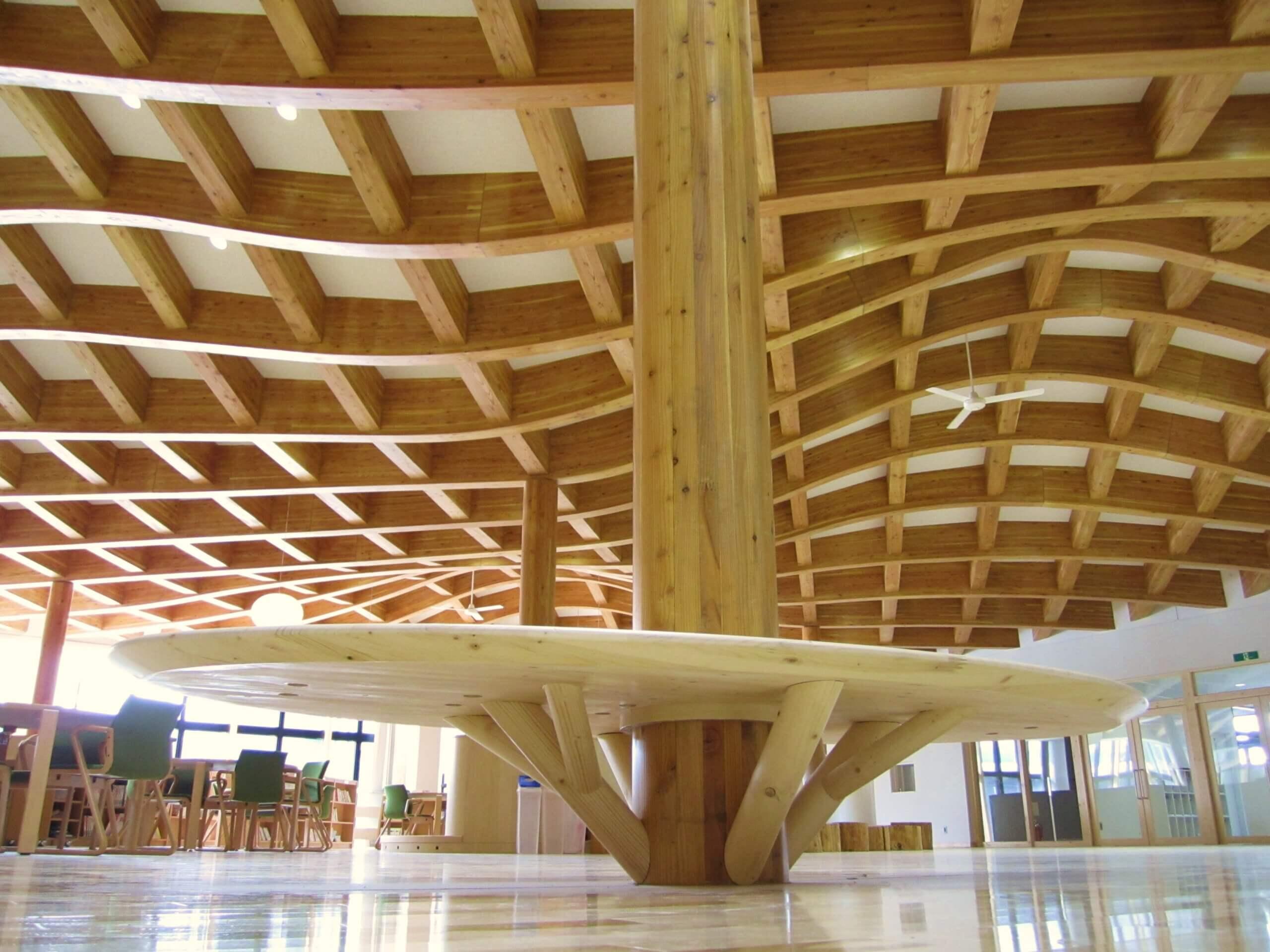 木造建築の施工事例:陸別町立陸別小学校 6枚目