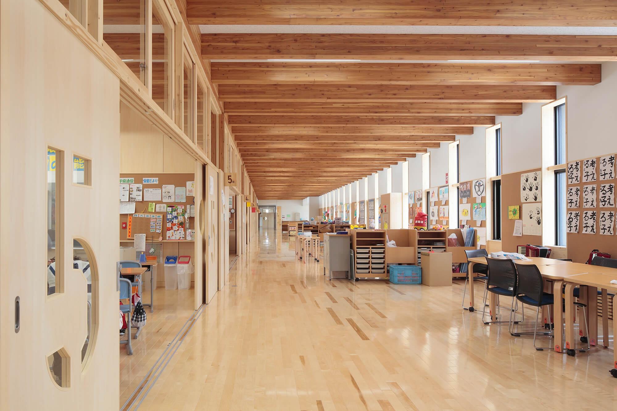木造建築の施工事例:陸別町立陸別小学校 8枚目
