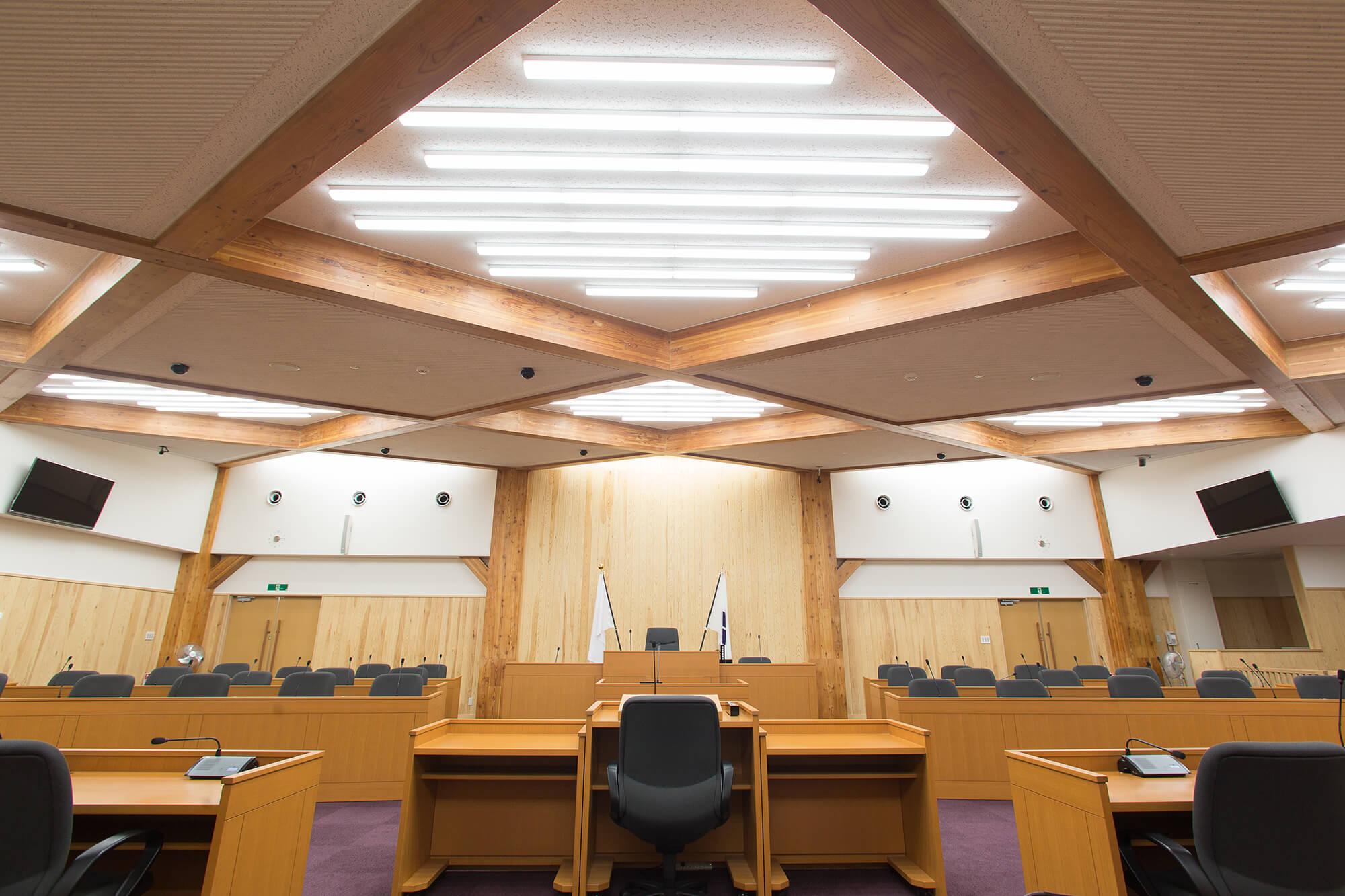 木造建築の施工事例:紫波町庁舎 3枚目