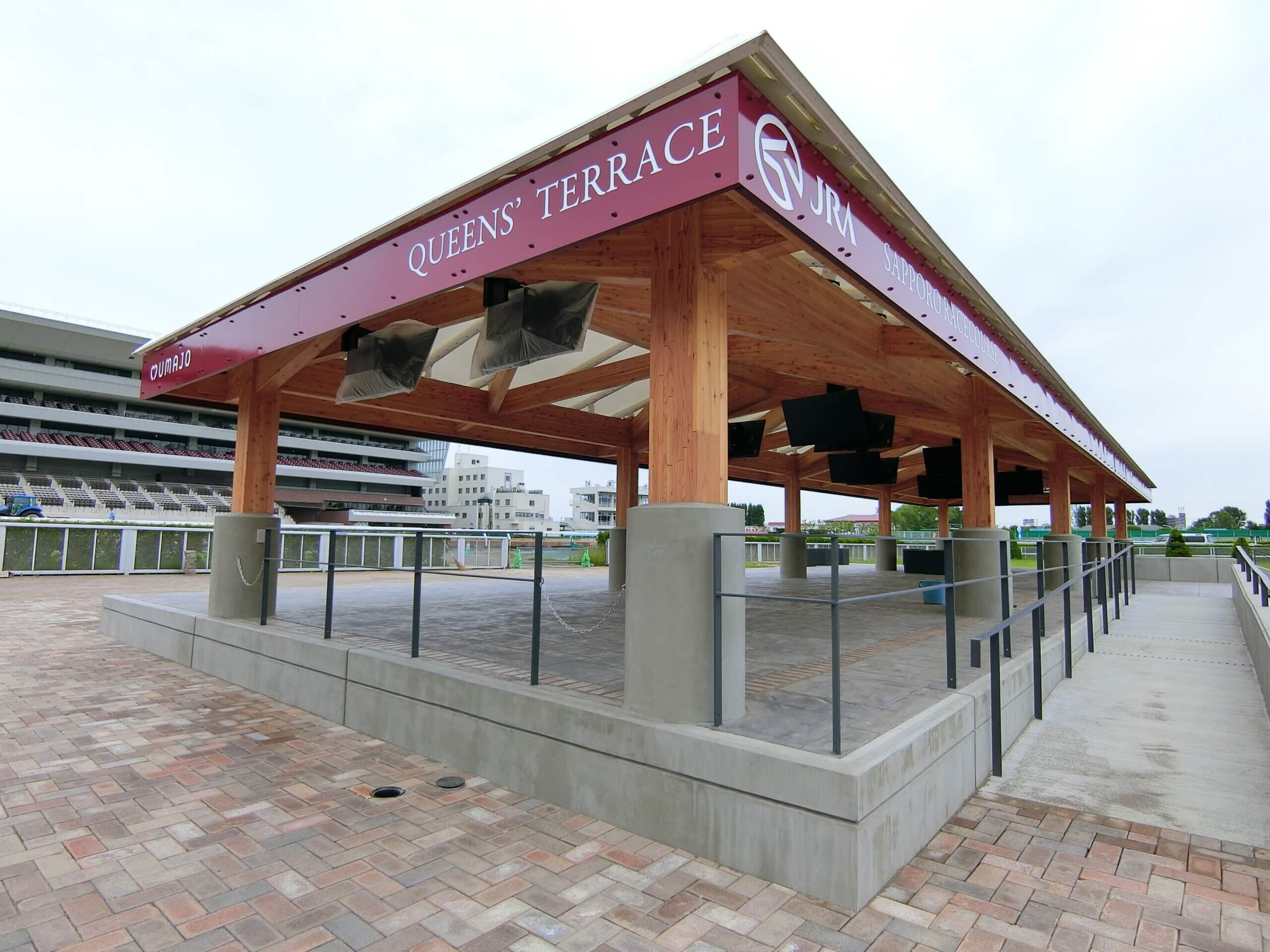木造建築の施工事例:JRA札幌競馬場 附属施設(はるにれドーム) 5枚目