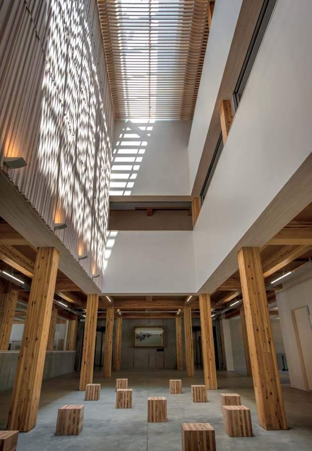 木造建築の施工事例:学校法人羽黒学園 羽黒高等学校 2枚目