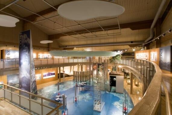 木造建築の施工事例:洞爺湖ビジターセンター 2枚目