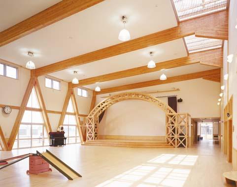 木造建築の施工事例:大館市立たしろ保育園 2枚目
