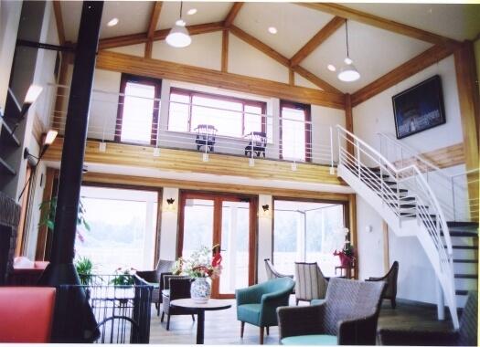 木造建築の施工事例:ホースパークギャラクシー クラブハウス 2枚目