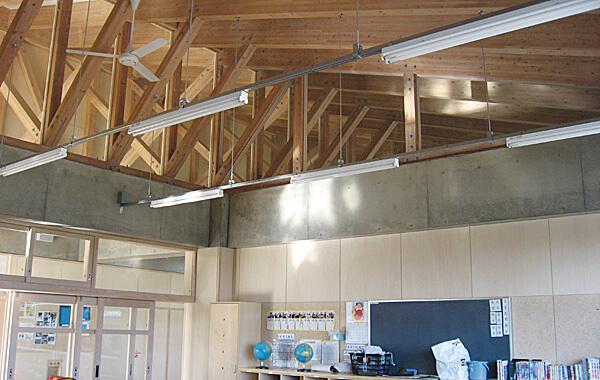 木造建築の施工事例:九十九里町豊海小学校 2枚目