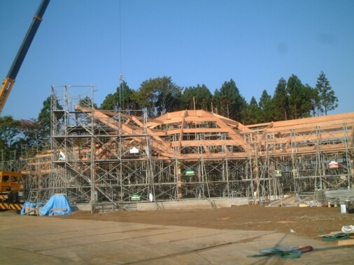 木造建築の施工事例:道の駅みさわ 斗南藩記念観光村 2枚目