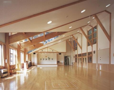 木造建築の施工事例:仙北市立にこにこ保育園 2枚目