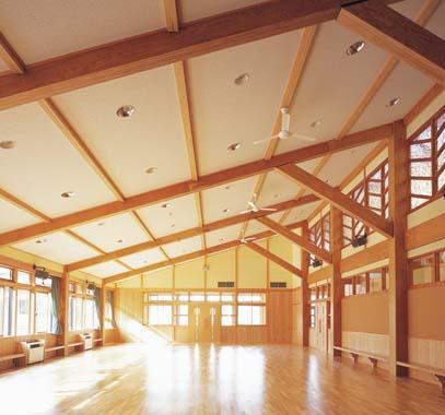 木造建築の施工事例:北上市立和賀東小学校 2枚目