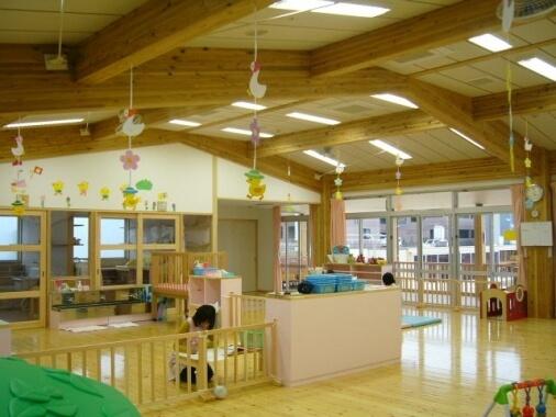 木造建築の施工事例:香美市立あけぼの保育園 2枚目
