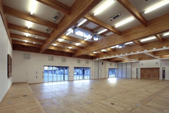 木造建築の施工事例:中九州クボタ本社物流センター 会議室・研修棟 2枚目