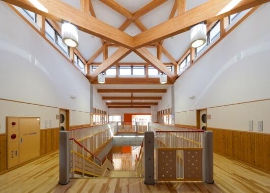 木造建築の施工事例:鳥羽市立弘道小学校 2枚目