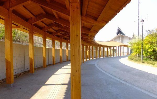 島根県立水族館「アクアス」渡り廊下