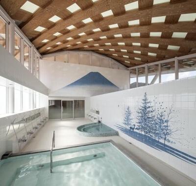 木造建築の施工事例:JR女川駅・女川町温泉温浴施設ゆぽっぽ 2枚目