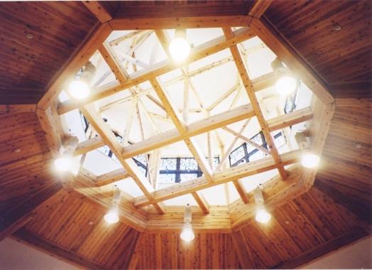 木造建築の施工事例:天童市森林情報館 もり〜な天童 2枚目