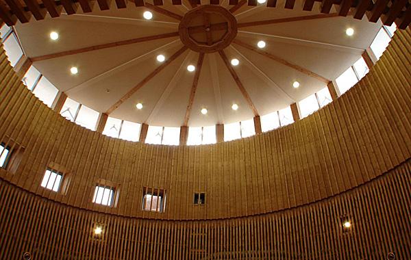 木造建築の施工事例:河北町地域交流センター どんがホール 3枚目