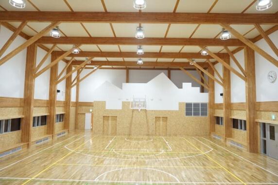 木造建築の施工事例:小平町立鬼鹿小学校 2枚目