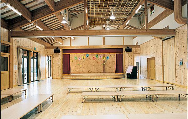 木造建築の施工事例:甘楽町立かんら保育園 2枚目