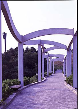 岡崎市恩賜公園(現:岡崎中央総合公園) 波の造形