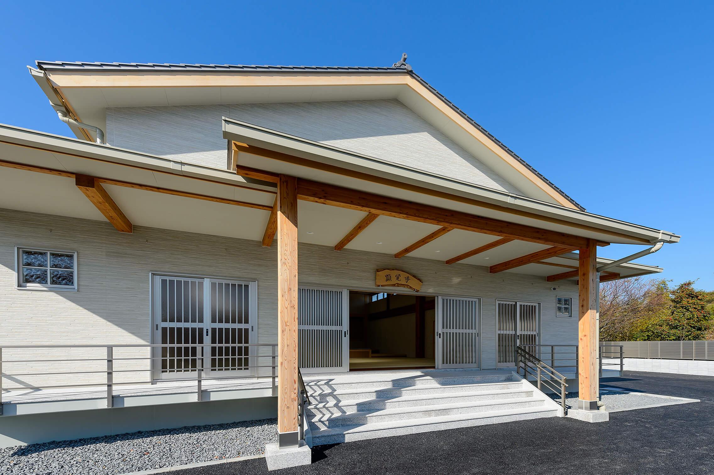 木造建築の施工事例:新顕覚寺 2枚目