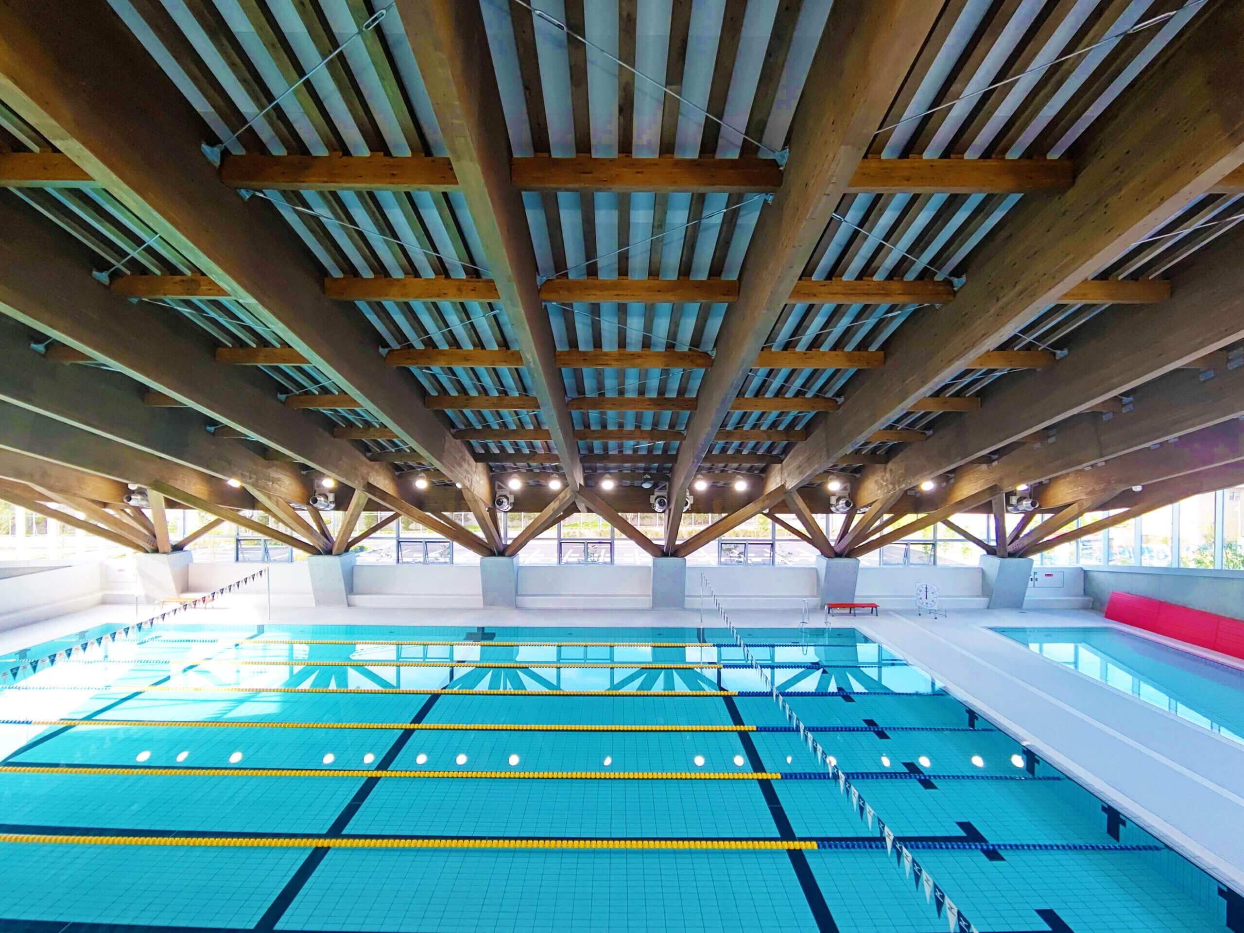 木造建築の施工事例:えみくるARIDA(有田市民水泳場) 1枚目