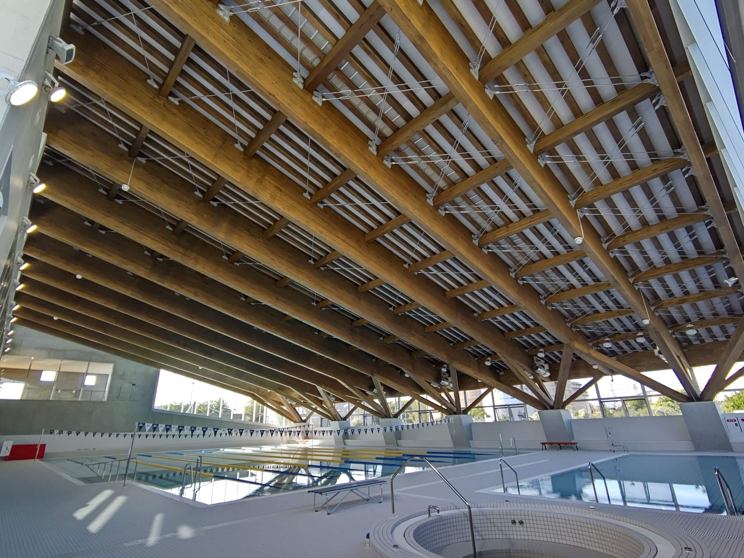 木造建築の施工事例:えみくるARIDA(有田市民水泳場) 3枚目