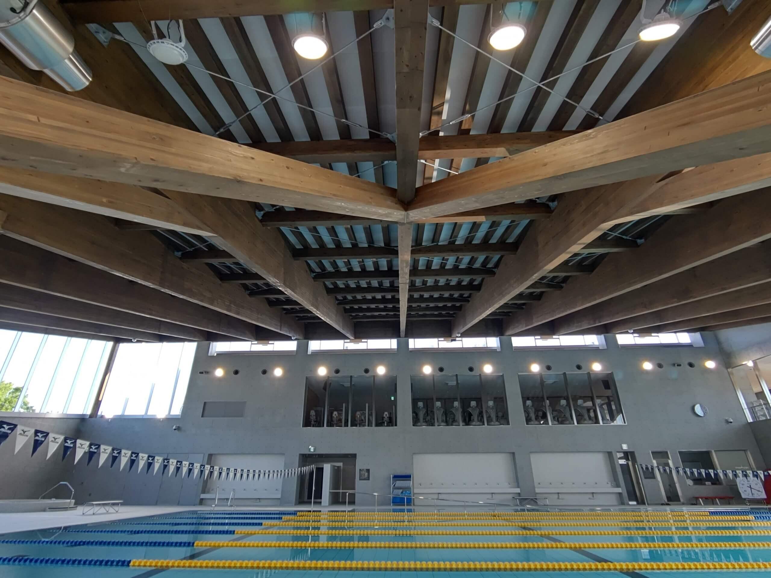 木造建築の施工事例:えみくるARIDA(有田市民水泳場) 4枚目