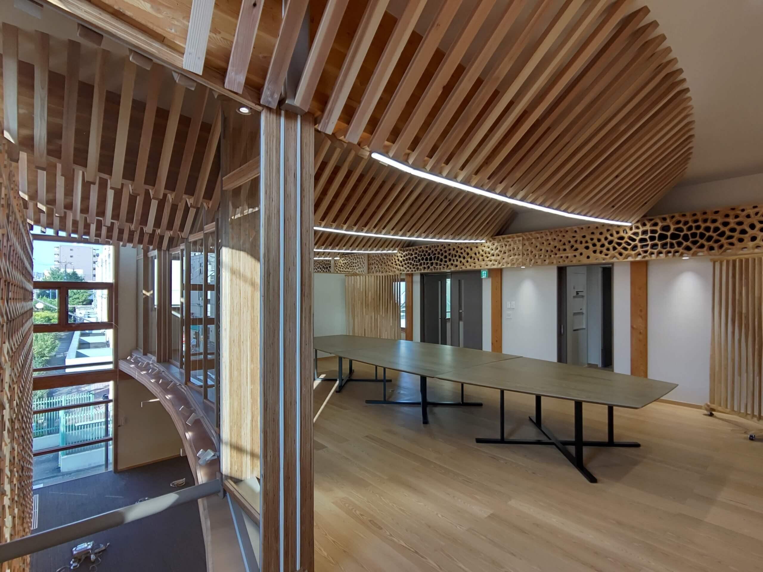 木造建築の施工事例:日刊木材新聞社 3枚目
