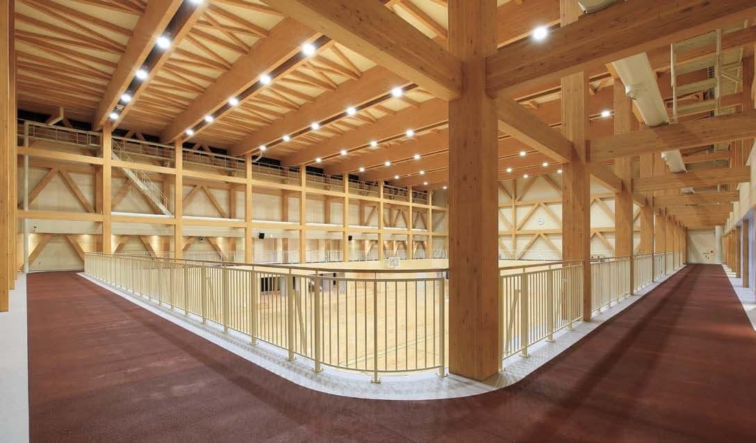 木造建築の施工事例:黒松内町民体育館 1枚目