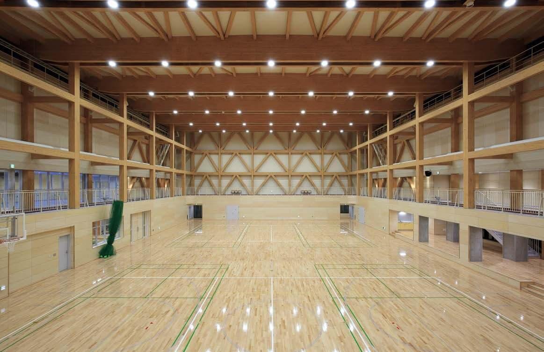 木造建築の施工事例:黒松内町民体育館 3枚目