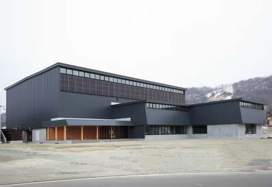 木造建築の施工事例:黒松内町民体育館 2枚目
