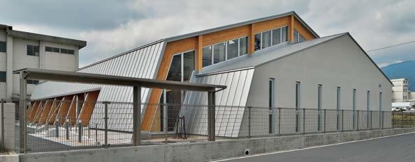 木造建築の施工事例:菰野町立八風中学校 武道場 2枚目