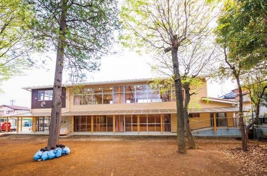 木造建築の施工事例:木の実幼稚園 遊戯室棟 2枚目