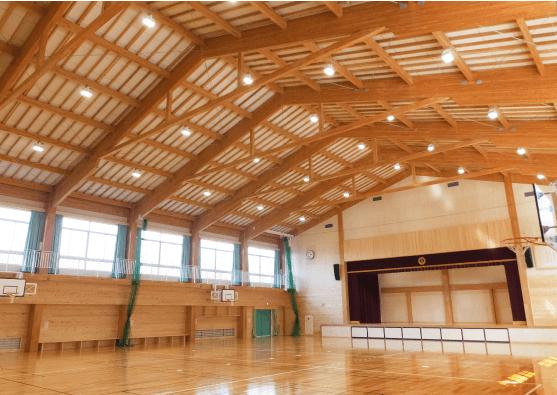 木造の体育館のデザイン・印象